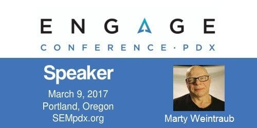 2017 Engage (Social PPC & Psychographic Full-Day Intensive) Mini-Interview:  Marty Weintraub