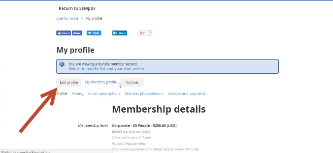 Editing Your Corporate Membership
