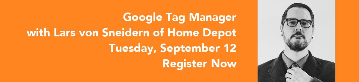 Google Tag Manager - Sept. 12, 2017
