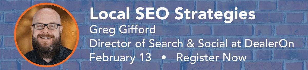 Local SEO Strategies - February 13, 2018