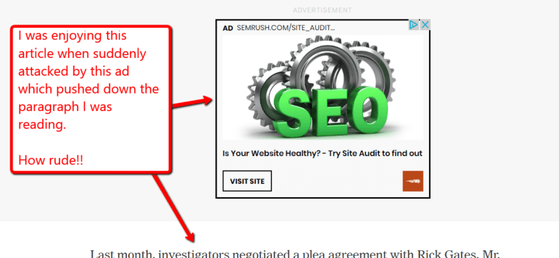 Intrusive Advertising Attacks Unexpectedly