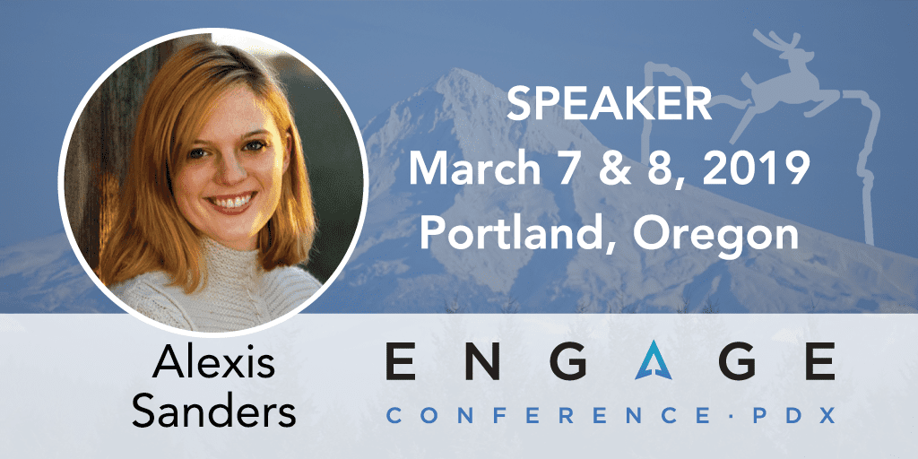 Engage 2019 Mini-Interview:  Alexis Sanders