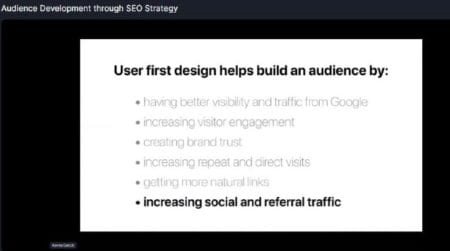 user first design tips for SEO