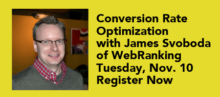 November 2015 – Conversion Rate Optimization with James Svoboda