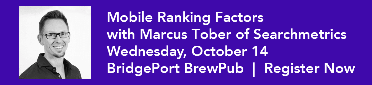 Mobile Ranking Factors with Marcus Tober of Searchmetrics - Oct. 14, 2015