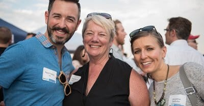 Rand Anne and Geraldine at 2015 Rooftop