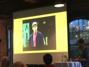 Ryan Campbell SEMpdx BackToSchool Sept 2014 at Bridgeport Brew Pub - scenes from Billy Madison