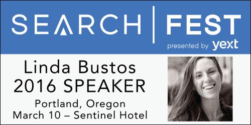 See Linda Bustos speak at SearchFest 2016