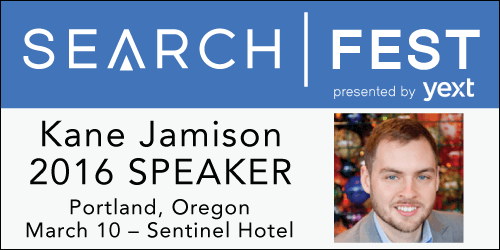 SearchFest 2016 Mini-Interview:  Kane Jamison