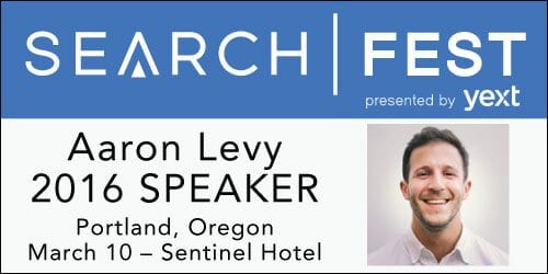 SearchFest 2016 Mini-Interview:  Aaron Levy