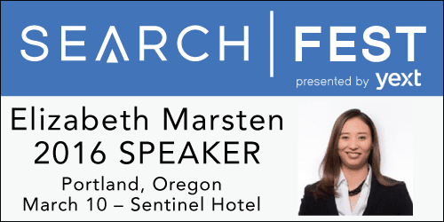 SearchFest 2016 Mini-Interview:  Elizabeth Marsten