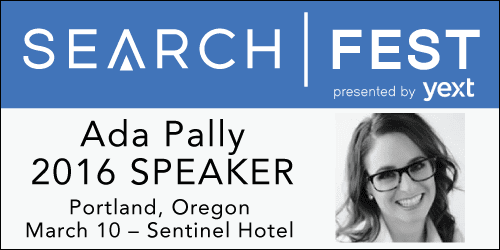 SearchFest 2016 Mini-Interview:  Ada Pally