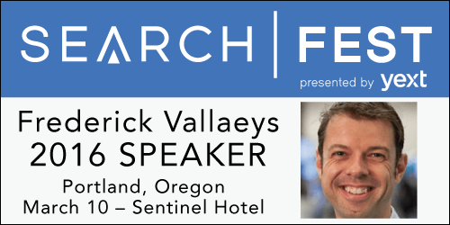 SearchFest 2016 Mini-Interview:  Frederick Vallaeys