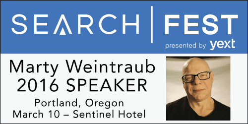 SearchFest 2016 Mini-Interview:  Marty Weintraub