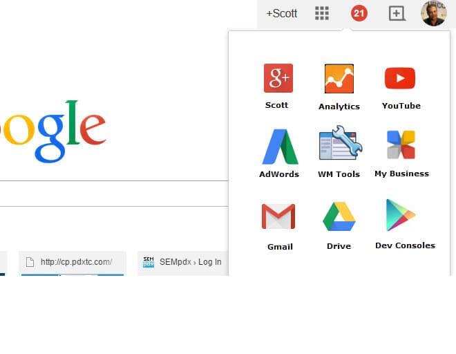 Google menus - like we WISH they had